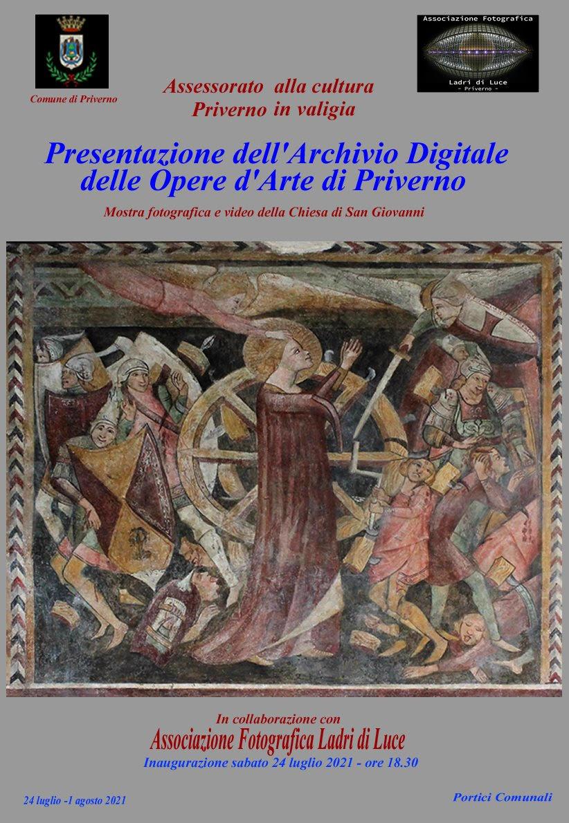 Presentazione dell'Archivio Digitale delle Opere d'Arte di Priverno @ Priverno, portici comunali (Portici P. Di Pietro)