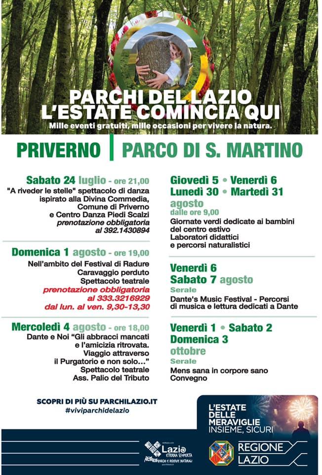 Priverno: Parchi del Lazio, l'estate comincia qui @ Priverno