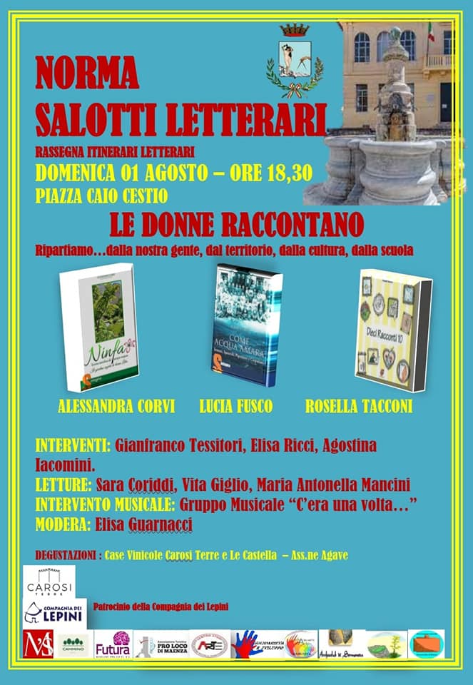 """Norma: salotti letterari """"Le donne raccontano"""" @ Norma, Piazza Caio Cestio"""