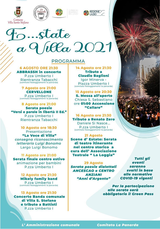 Villa Santo Stefano: E...state a Villa 2021 @ Villa Santo Stefano