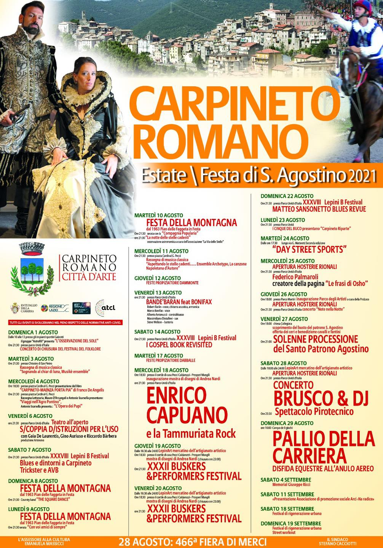 Carpineto Romano: Estate di S. Agostino 2021 @ Carpineto Romano