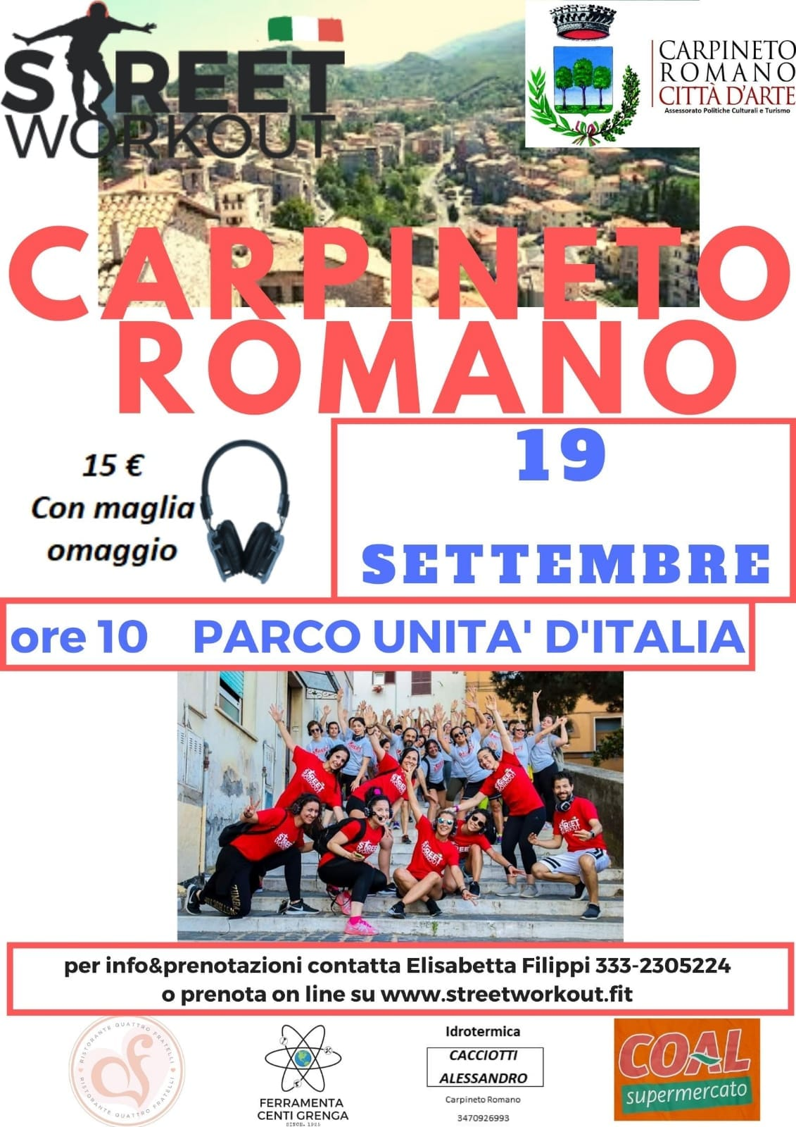Carpineto Romano: Street Workout @ Carpineto Romano