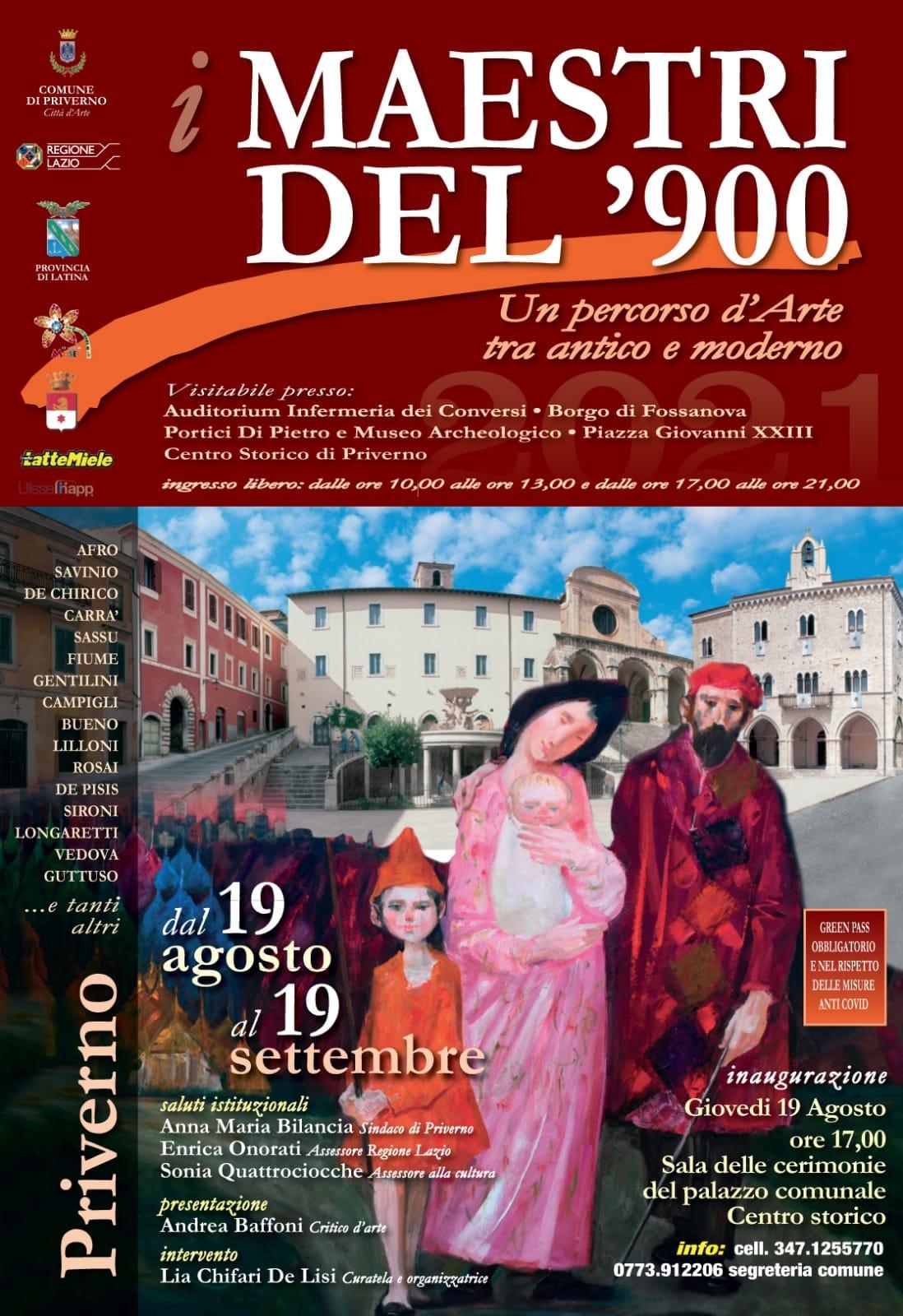 Priverno: i Maestri del '900 - un percorso d'Arte tra Antico e Moderno @ Priverno, Borgo di Fossanova e Piazza Giovanni XXIII