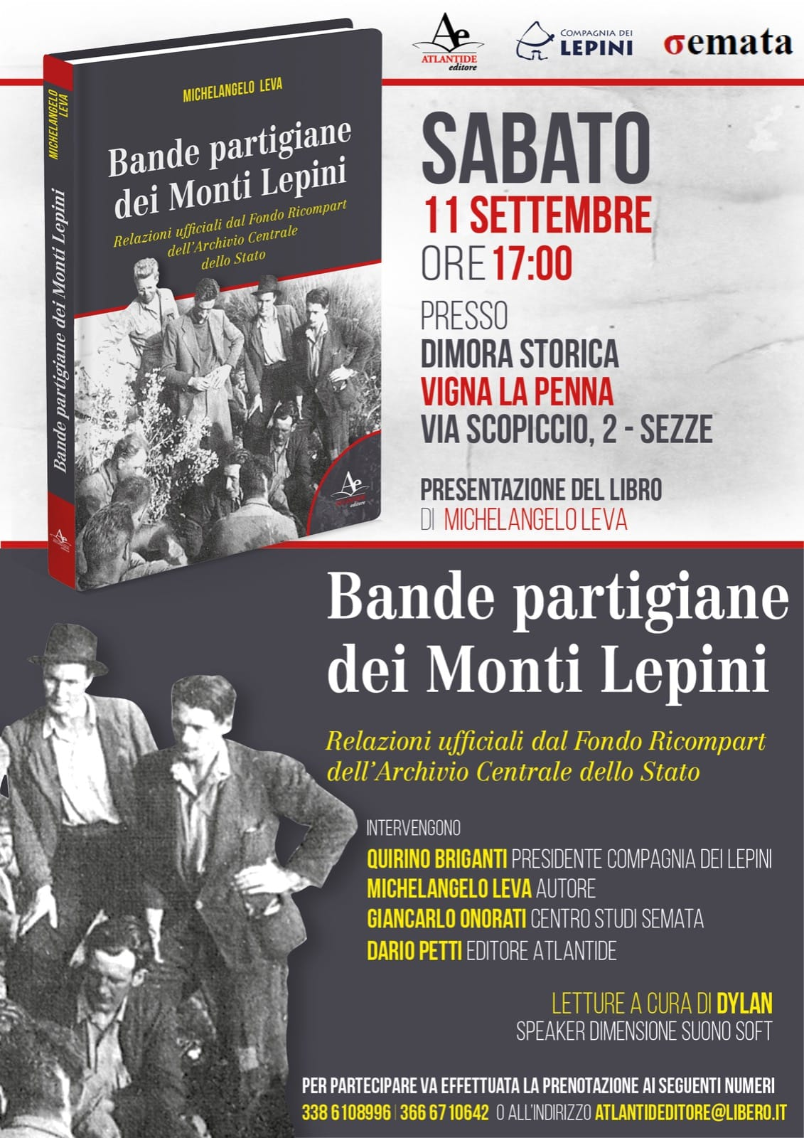 Sezze: Bande partigiane dei Monti Lepini @ Dimora Storica, Vigna La Penna