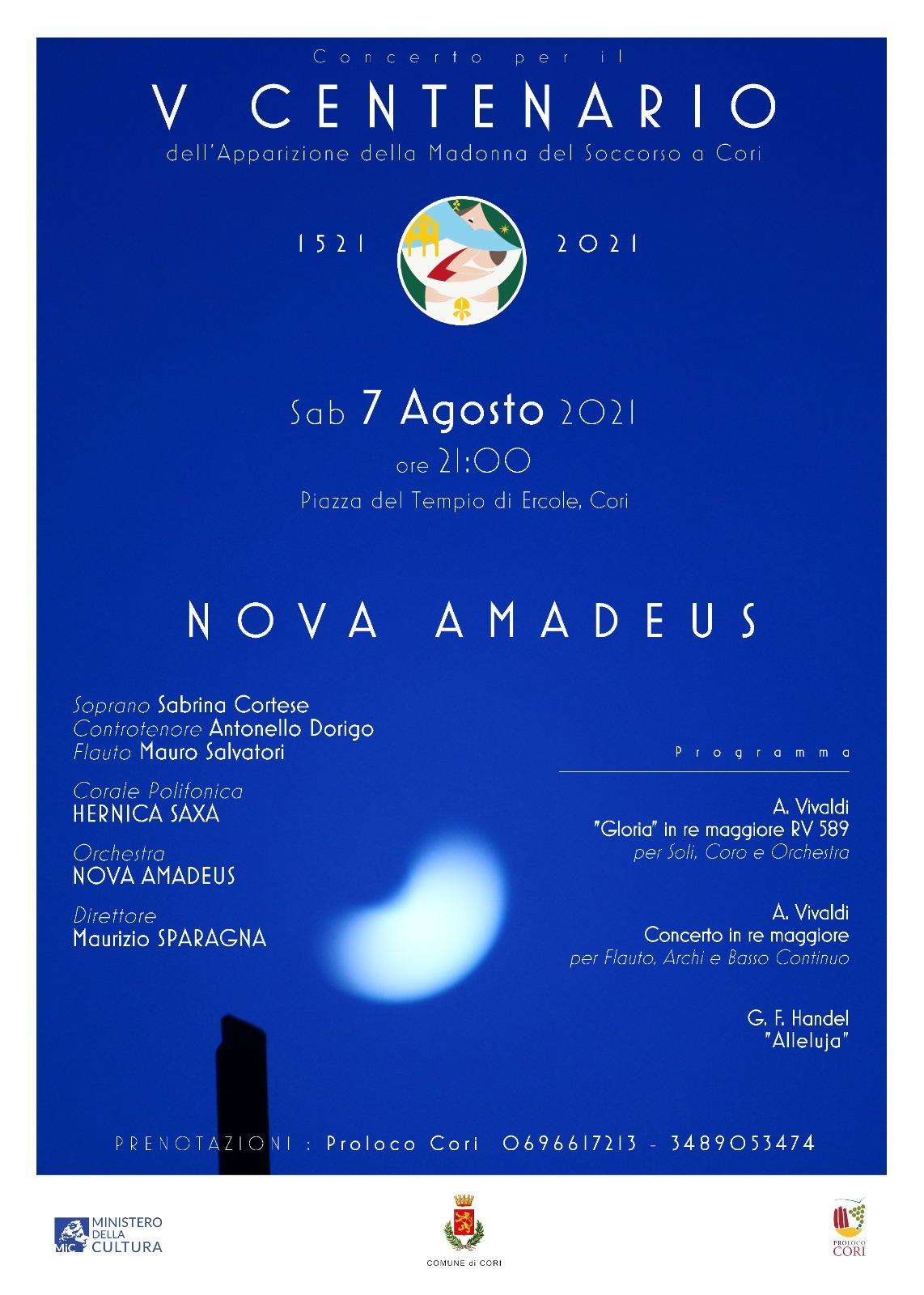 Cori: concerto per il V Centenario dell'Apparizione della Madonna del Soccorso @ Piazza del Tempio di Ercole