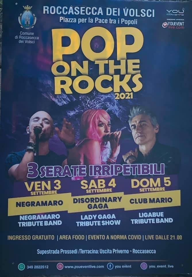 Roccasecca dei Volsci: Pop on the Rocks 2021 @ Roccasecca dei Volsci