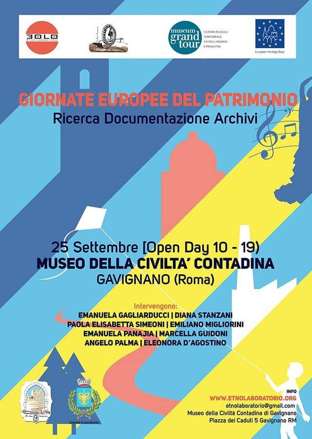 Gavignano: Giornate Europee del Patrimonio 2021 @ Museo della Civiltà Contadina - Piazza dei Caduti, 5