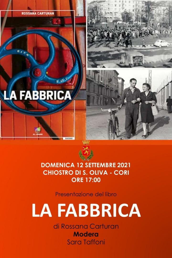 """Cori: Incontri con l'autore """"La Fabbrica"""" @ Cori"""
