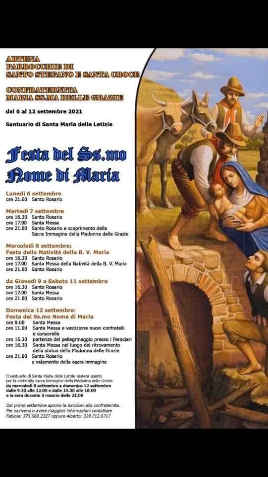 Artena: Festa del Ss.mo nome di Maria @ Artena