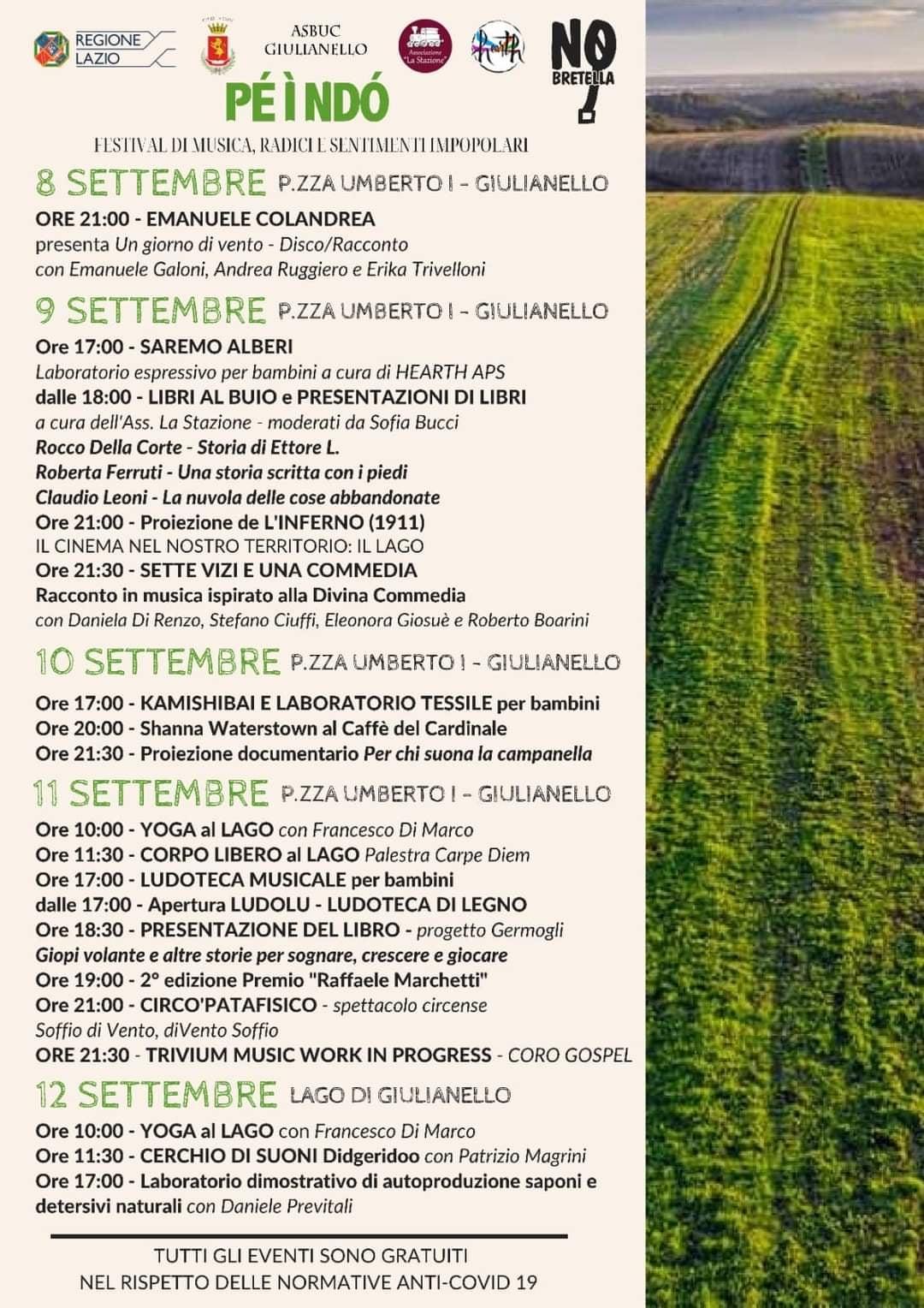 Giulianello: Pe ì ndò Festival @ Piazza Umberto I - Giulianello