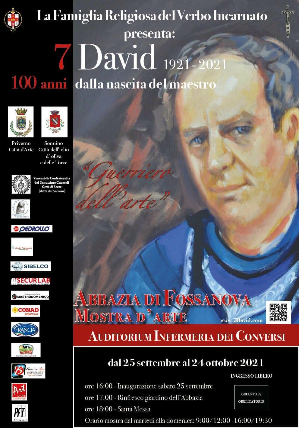 Fossanova: Mostra d'arte 7 David 1921-2021 @ Fossanova