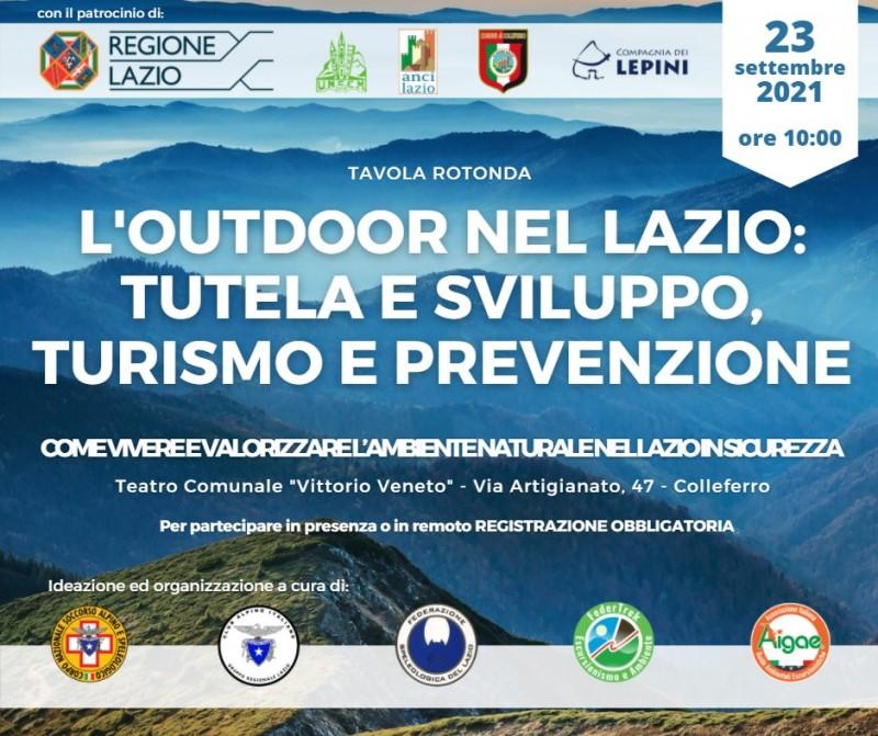 """Colleferro: L'outdoor nel Lazio- tutela e sviluppo, turismo e prevenzione @ Teatro comunale """"Vittorio Veneto"""""""