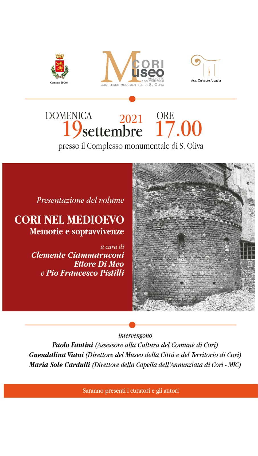 """Cori: Incontri con l'autore """"Cori nel Medioevo"""" @ Complesso Monumentale di S.Oliva"""