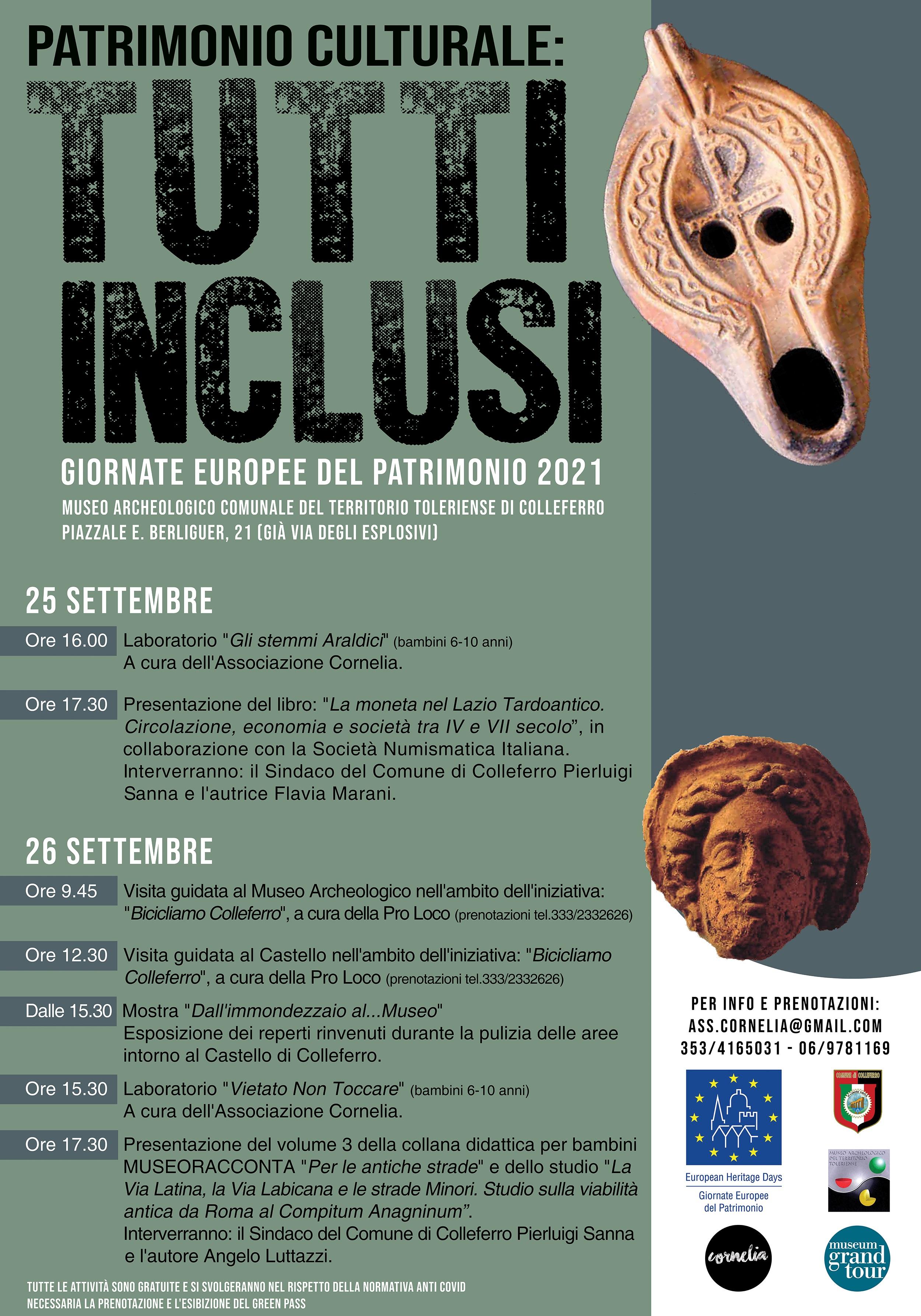 Colleferro: Giornate Europee del Patrimonio 2021 @ Colleferro