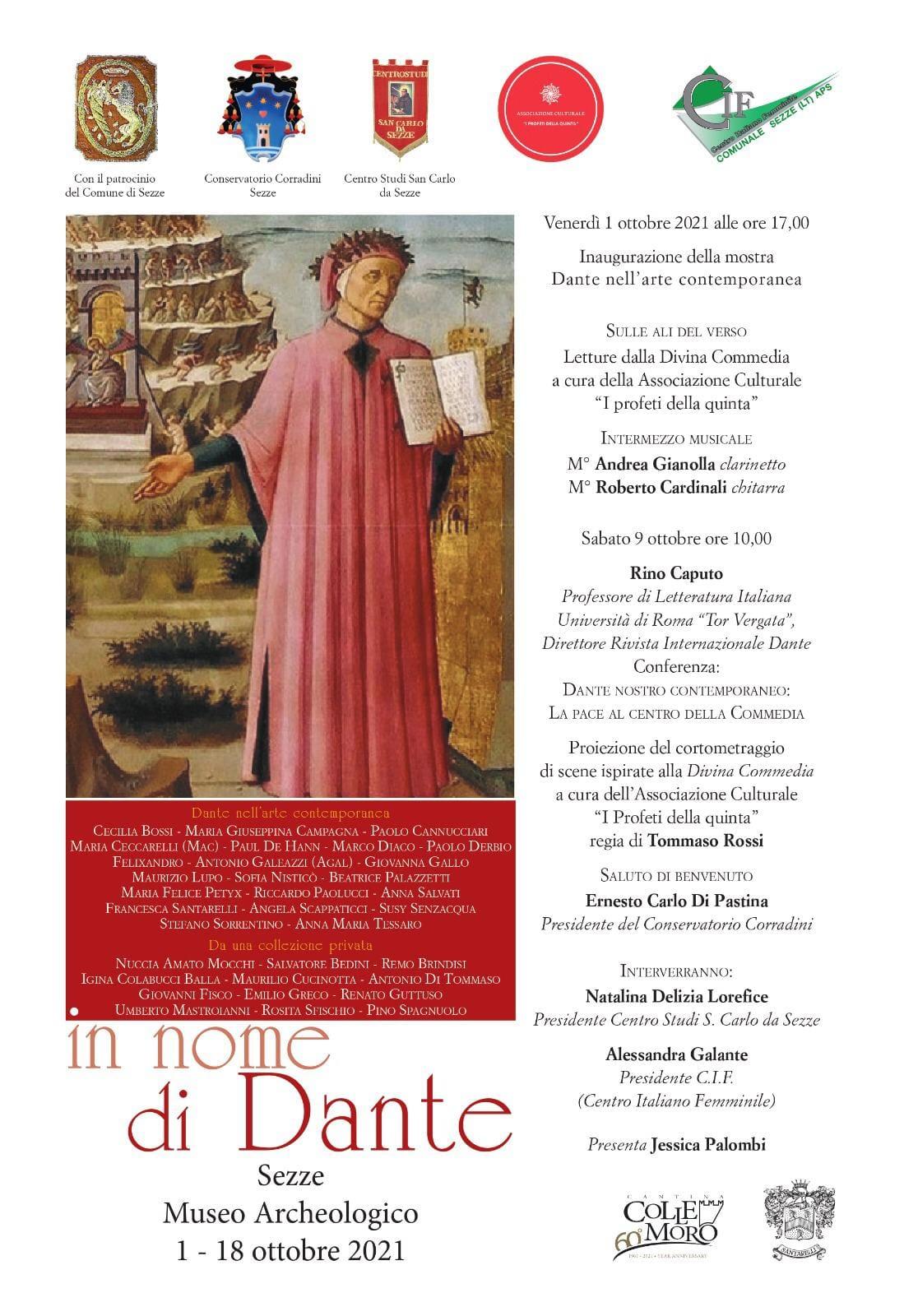 Sezze: In nome di Dante 2021 @ Museo Archeologico Sezze