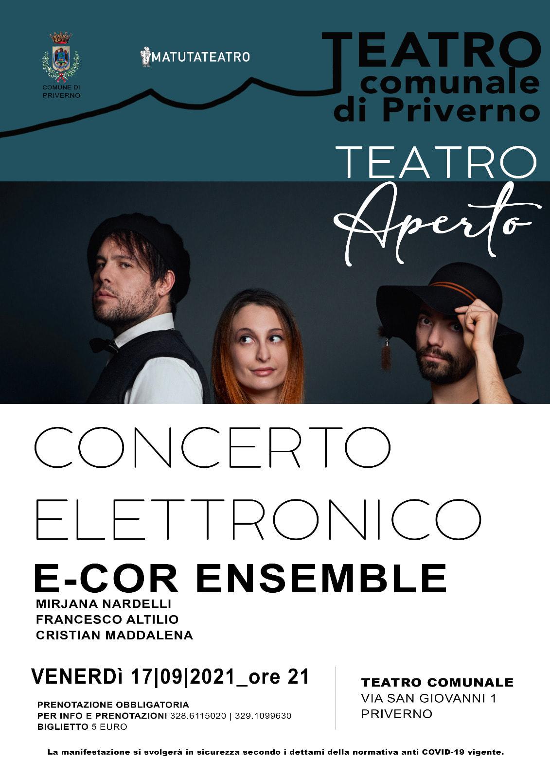 Priverno: Concerto elettronico con  E-CO  Ensemble @ Teatro Comunale
