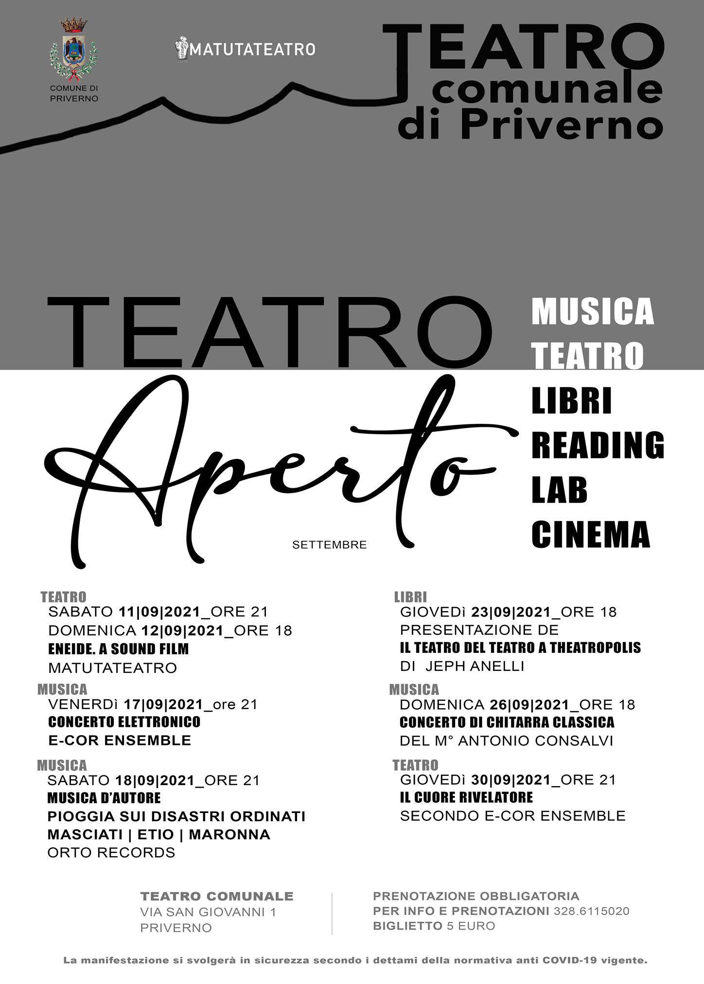 Priverno: Teatro Aperto @ Teatro Comunale di Priverno