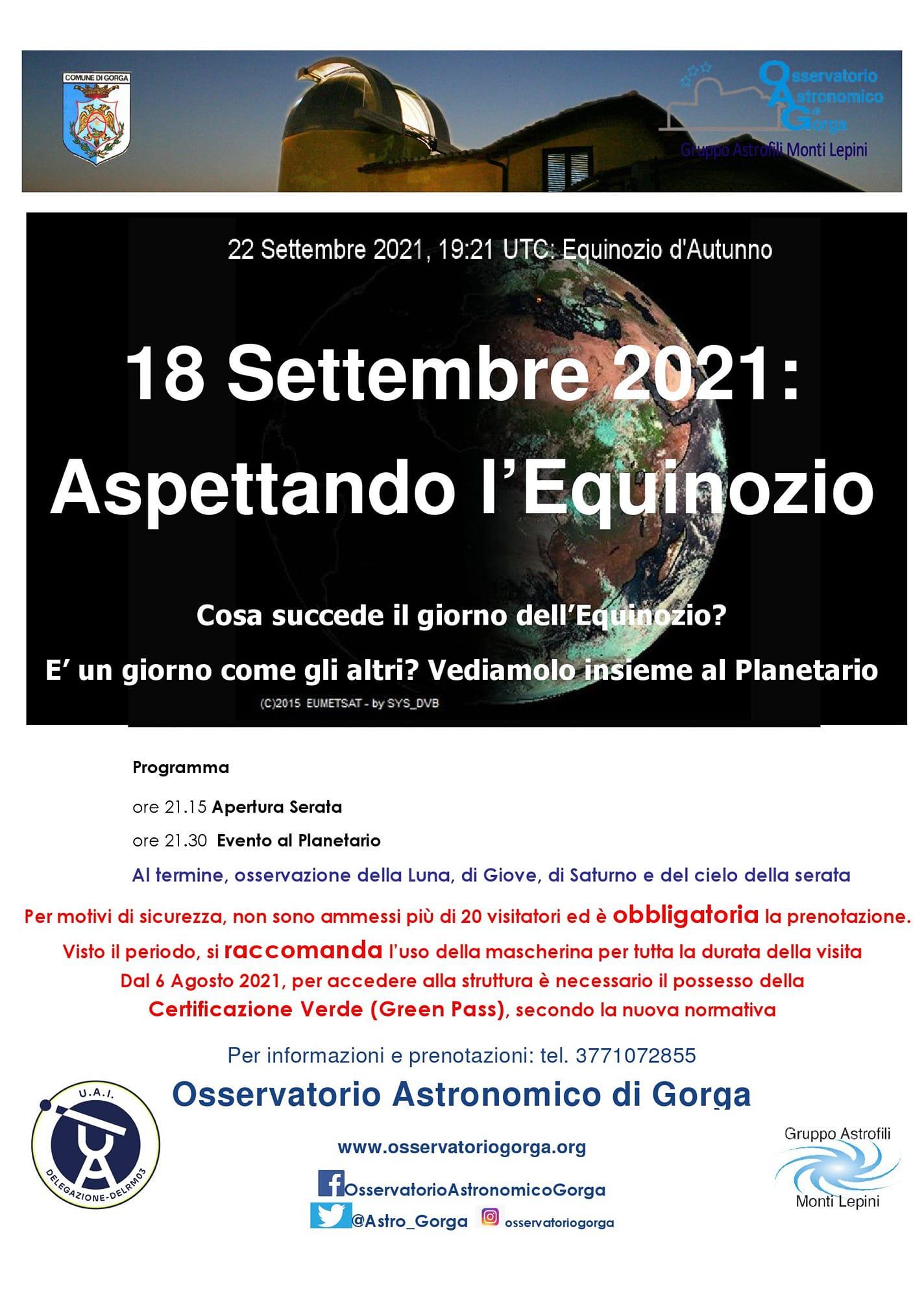 Gorga: Aspettando l'Equinozio @ Osservatorio Astronomico di Gorga