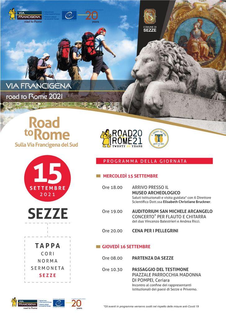 road-to-rome-tappa-sezze-2021-programma