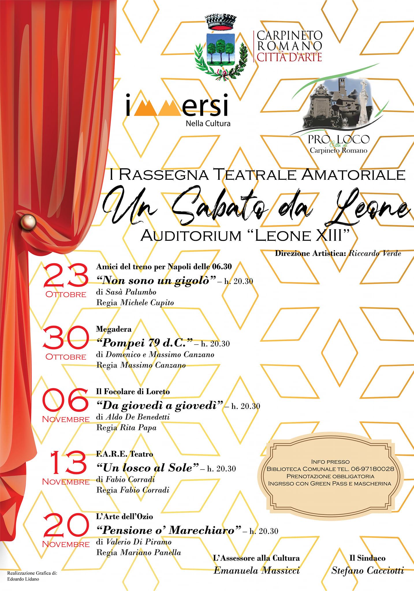 """Carpineto: Un Sabato da Leone - I Rassegna Teatrale Amatoriale @ Auditorium """"Leone XIII"""""""