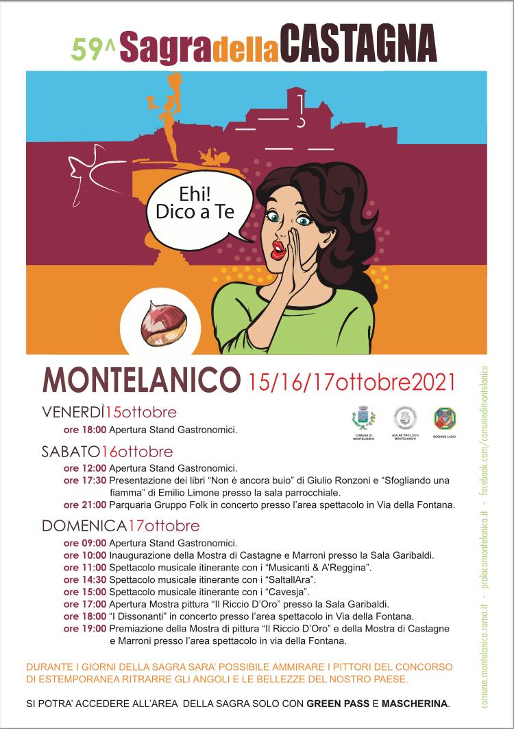 Montelanico: 59° sagra della castagna @ Montelanico
