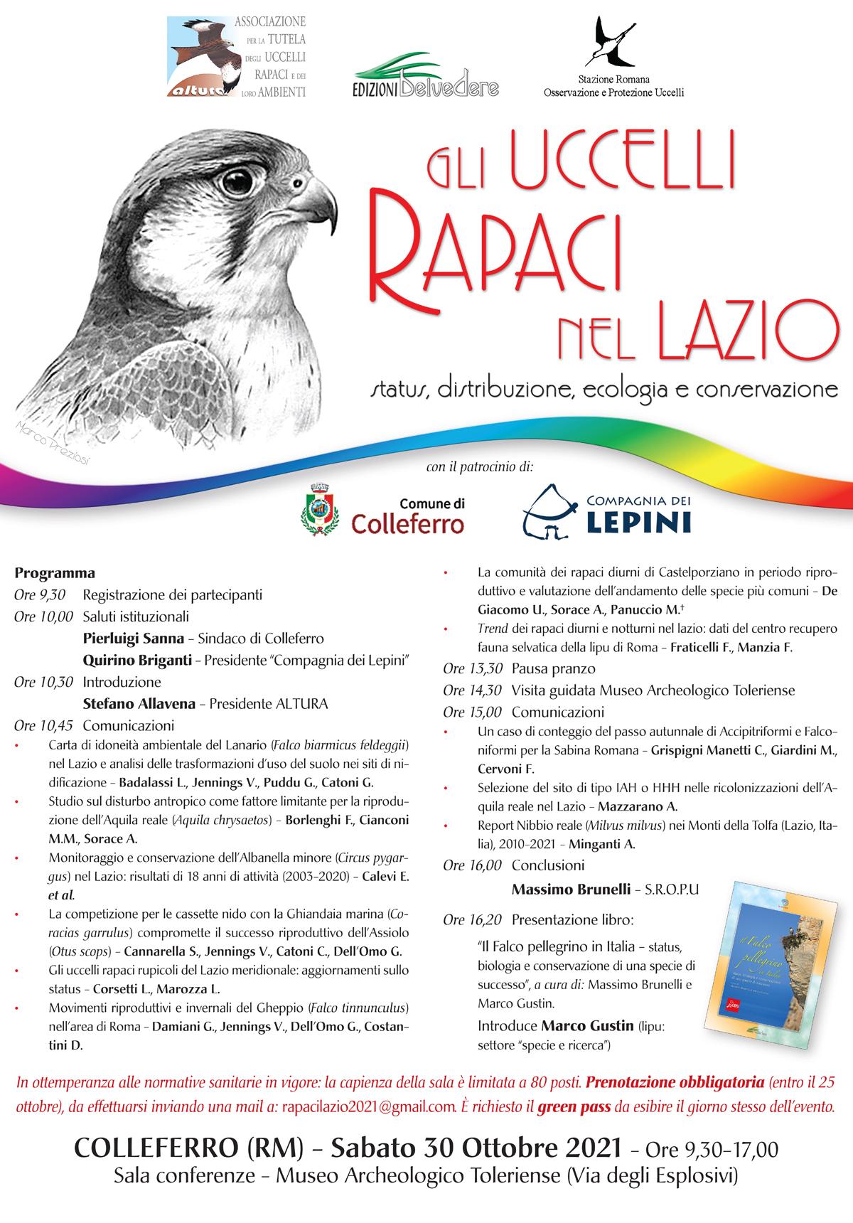 """Colleferro: """"Gli uccelli rapaci nel Lazio"""" @ Colleferro"""