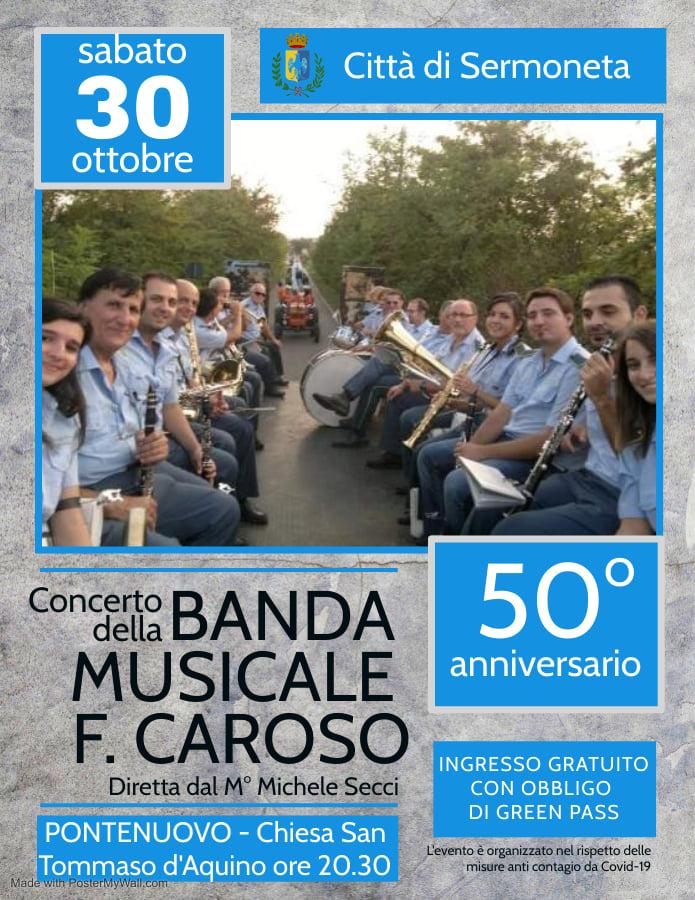 Sermoneta: Concerto della Banda Musicale F. Caroso @ Sermoneta