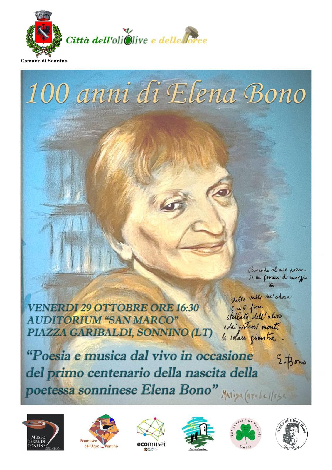 Sonnino: 100 anni di Elena Bono @ Sonnino