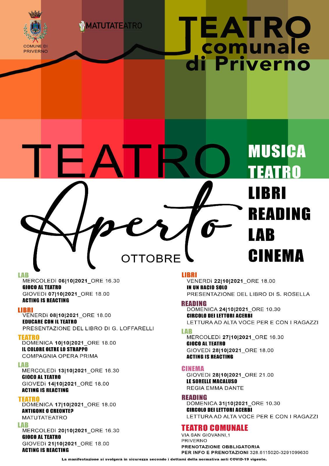 Priverno: Ottobre a Teatro @ Priverno