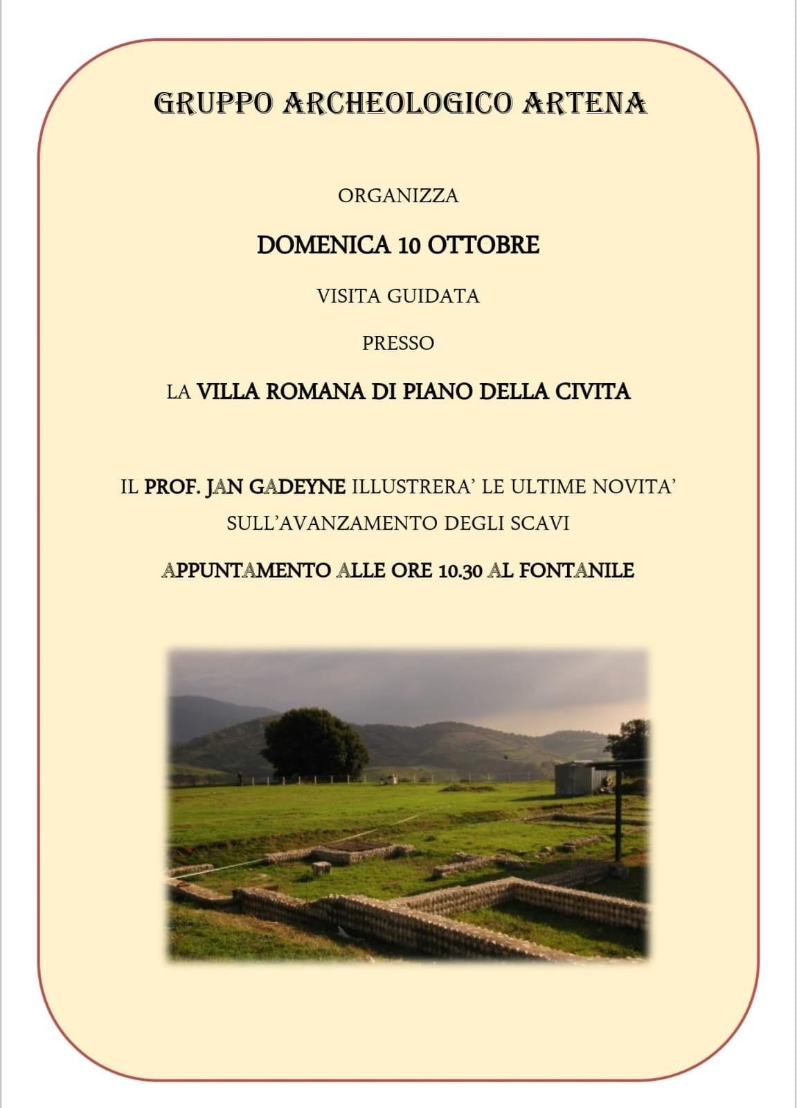 Artena: Visita guidata alla Villa Romana @ Fontanile