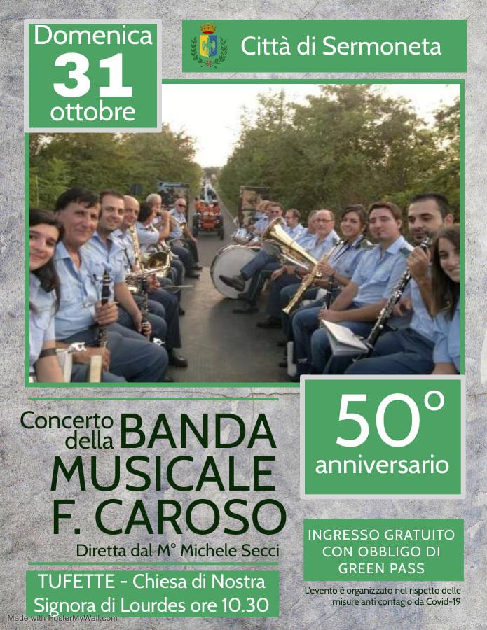 Sermoneta: concerto della banda Musicale F. Caroso @ Sermonera