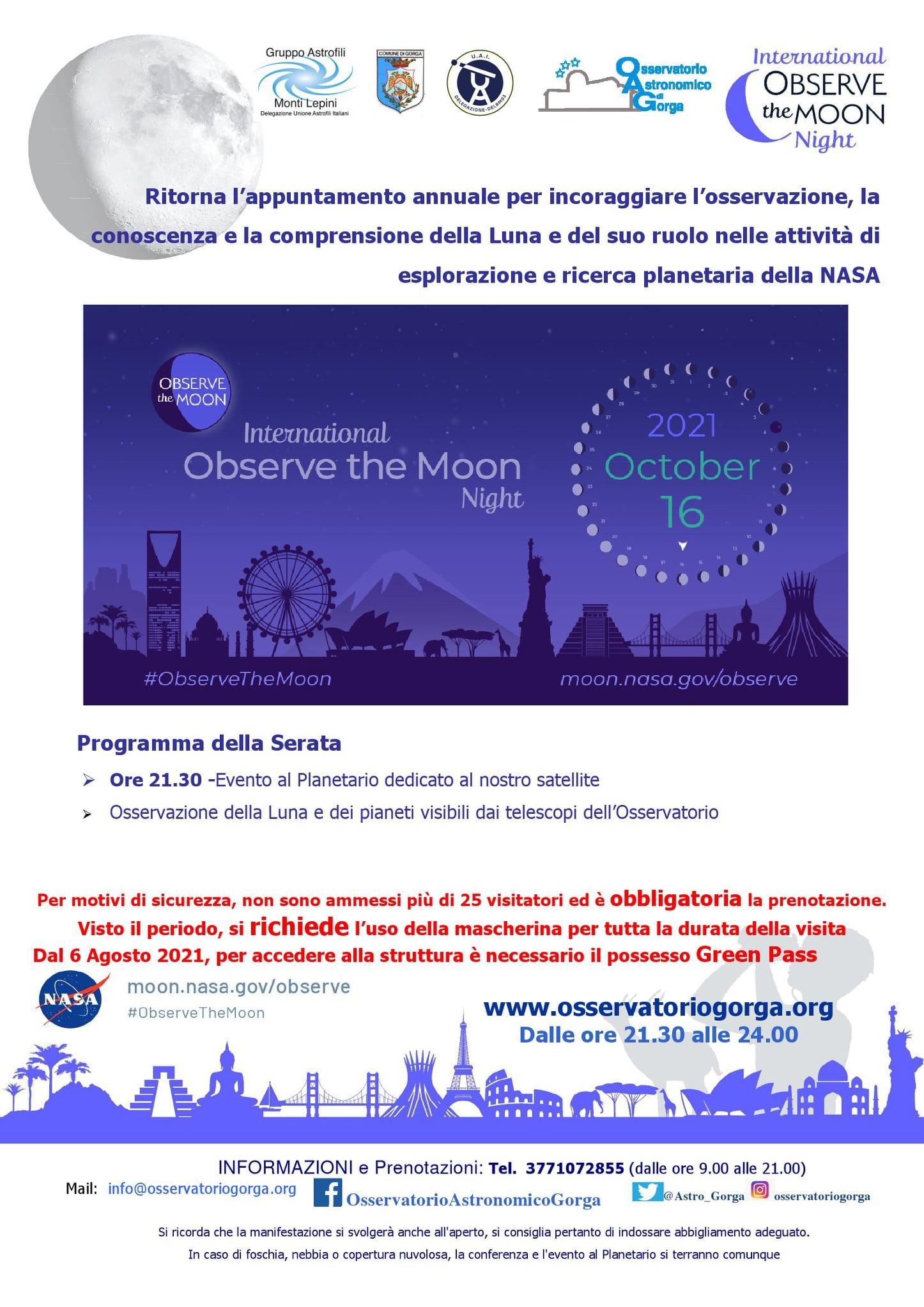 Gorga: International Observe the Moon Night @ Osservatorio Astronomico di Gorga