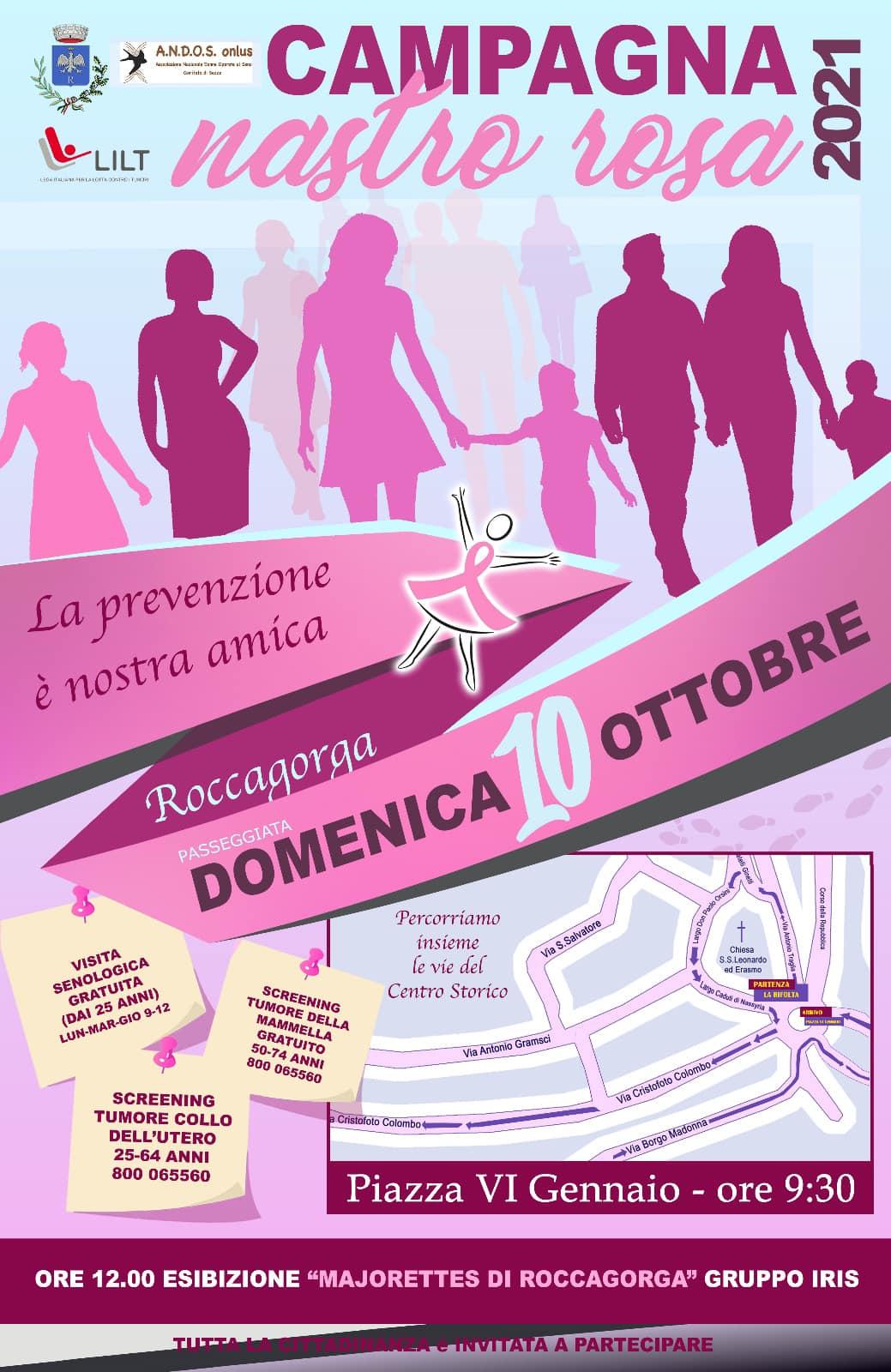 Roccagorga: Campagna Nastro Rosa 2021 @ Piazza VI Gennaio
