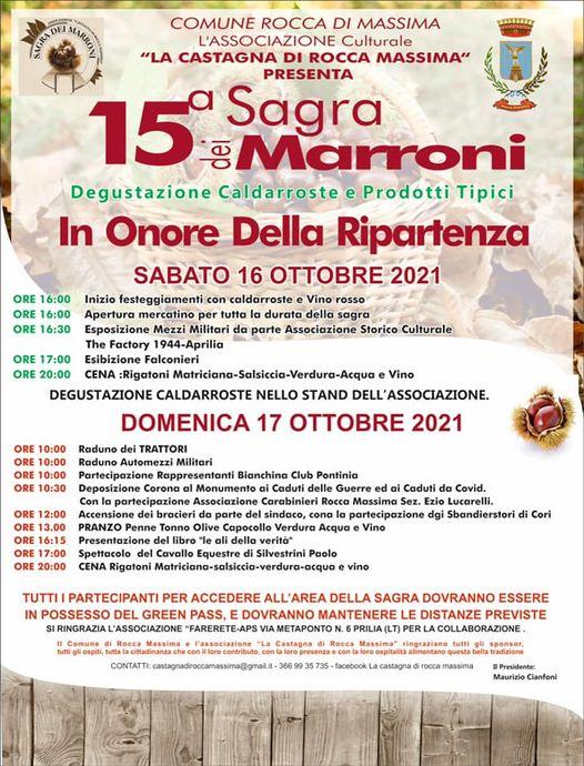 Rocca Massima: 15° sagra dei marroni @ rocca massima